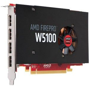 HP FirePro W5100 Graphic Card - 4 GB GDDR5 - OpenGL 4 4, DirectX 12 - 4 x  DisplayPort - PC - 6 x Monitors Supported