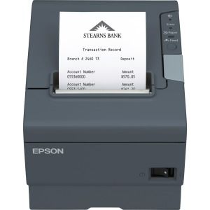Epson Direct Thermal Printer - Monochrome - Receipt Print - 11 81 in/s Mono  - 4 KB - USB - Serial - Receipt, Direct Thermal Paper - 3 15
