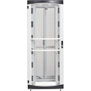 Eaton RSVNS4882W Rack Cabinet - 48U Wide for Server, LAN Switch, Patch  Panel, UPS, PDU - White - Metal - 2000 lb x Dynamic/Rolling Weight Capacity  -