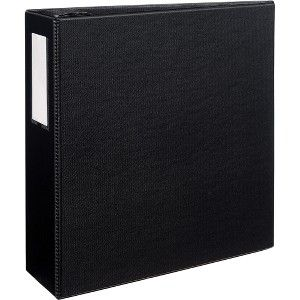 avery sr11 40l bk avery durable binders with ezd rings 4 binder