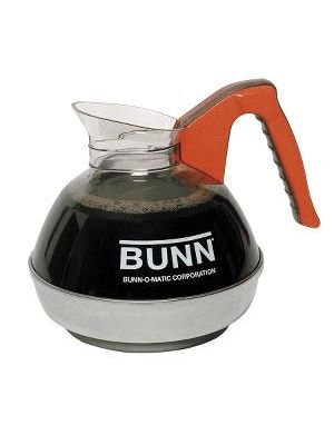 BUNN Unbreakable 12-Cup Decanter - 3 quart Decanter - Stainless Steel Base - Orange - 1 Piece(s) Each