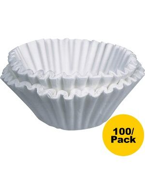 BUNN Home Brewer Coffee Filters - 100 / Pack - White