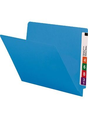 Smead End Tab Colored Folders with Shelf-Master® Reinforced Tab - Letter - 8 1/2