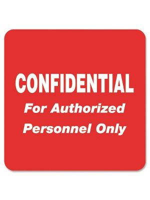 Tabbies Confidential Authorized Personnel Only Label - 2