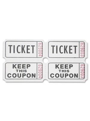Sparco Roll Tickets - White - 2000/Roll