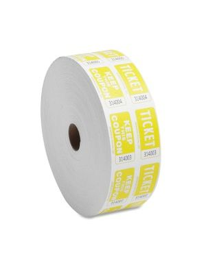 Sparco Roll Tickets - Yellow