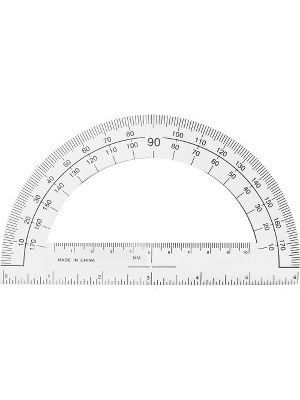 Sparco Professional Protractor - Plastic - Clear