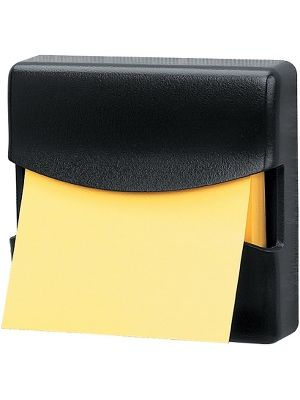 Fellowes Partition Additions™ Note Dispenser - 100 Note Capacity - Dark Graphite