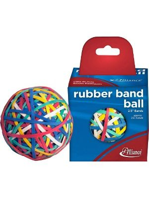 Alliance Rubber 00159 Rubber Band Ball - 250 Advantage Rubber Bands Included - 2.5