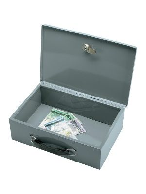 Sparco All-Steel Insulated Cash Box - Steel - Gray - 3.8