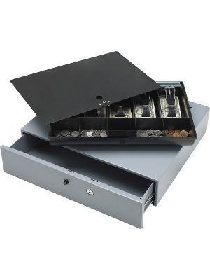 Sparco Removable Tray Cash Drawer - Gray - 3.8