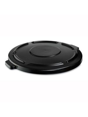 Rubbermaid Commercial Brute 44-gallon Container Lid - Round - Plastic - 1 Each - Black