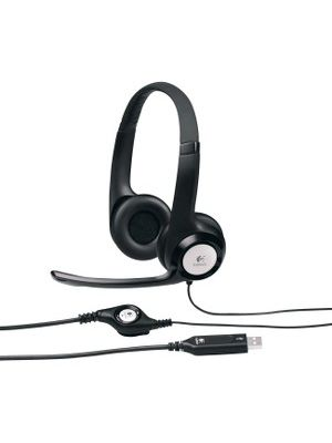 Logitech Padded H390 USB Headset - Stereo - Black, Silver - USB - Wired - 20 Hz - 20 kHz - Over-the-head - Binaural - Circumaural - 8 ft Cable - Noise Cancelling Microphone