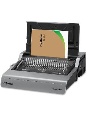 Fellowes Galaxy-E™ 500 Electric Comb Binding Machine w/ Starter Kit - CombBind - 500 Sheet(s) Bind - 28 Punch - Letter - 6.5