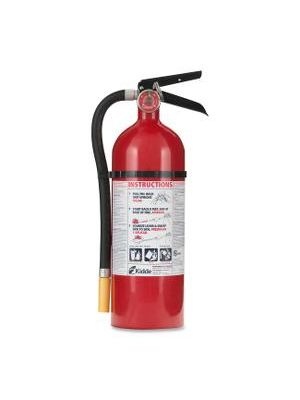 Kidde Fire Pro 5 Fire Extinguisher - 5 lb Capacity - B: Flammable Liquids - Rechargeable, Impact Resistant - Red