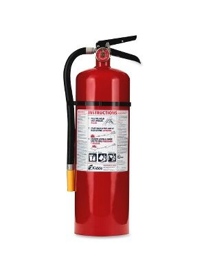 Kidde Pro 10 Fire Extinguisher - 10 lb Capacity - Rechargeable, Impact Resistant - Red