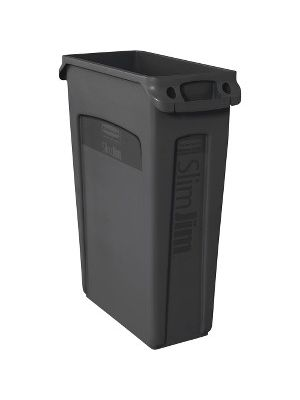 Rubbermaid Commercial Venting Slim Jim Waste Container - 23 gal Capacity - Rectangular - 30