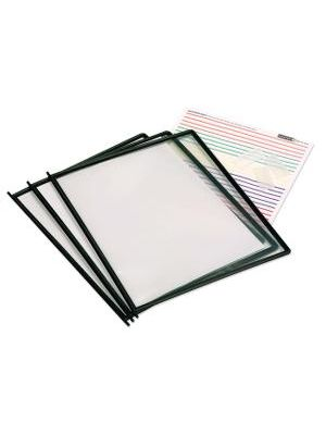 Master Products High Gauge Replacement Sheets - Non-glare - Black Frame - Polypropylene Sleeve - 11.5