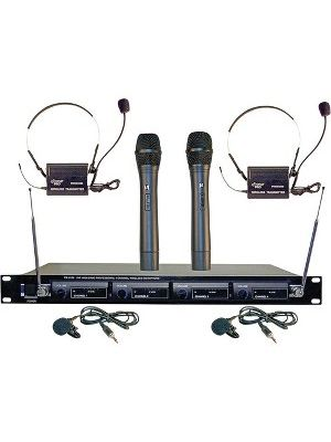 Pyle PDWM4300 Wireless Microphone System - 169MHz to 270MHz System Frequency