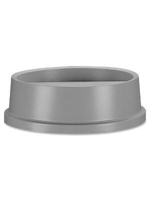 Rubbermaid Commercial Untouchable Round Swing Top Lid - Round - Polystyrene - 1 Each - Gray