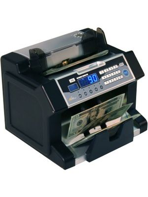 Royal Sovereign Front loading bill counter with counterfeit detection, 1200 bills/min and auto start/stop, batching 1 -999 bills, auto self test - RBC3100-Bill Counter-Counterfeit Detection UV/MG/IR-1200 bill/min- Front Hopper