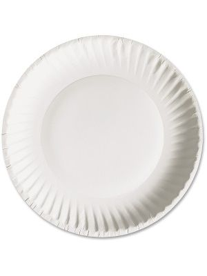 AJM Packaging Green Label Economy Paper Plates - 6