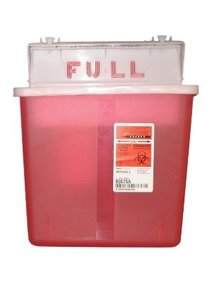 Covidien Sharpstar 5 Quart Sharps Container with Lid - 1.25 gal Capacity - Rectangular - 11