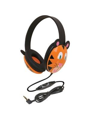 CALIFONE KIDS STEREO PC HEADPHONE TIGER DESIGN - Stereo - Mini-phone - Wired - 25 Ohm - 20 Hz 20 kHz - Over-the-head - Binaural - Ear-cup - 5.50 ft Cable