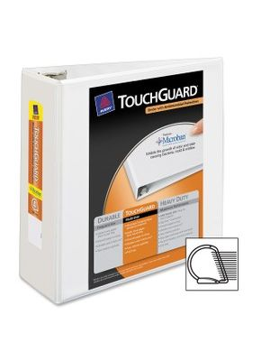 Avery&reg TouchGuard Protection Slant D-ring Heavy-duty View Binder - 4