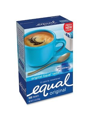 Equal Sugar Substitute Packets - 0 lb (0 oz) - Artificial Sweetener - 100/Box