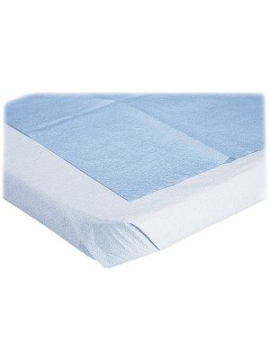 Medline Blue Disposable Stretcher Sheets - Tissue - For Classroom - Blue - 50 / Box