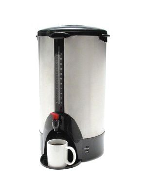 Coffee Pro 100-cup Commercial Urn/Coffeemaker - 100 Cup(s) - Multi-serve - Stainless Steel - Stainless Steel, Glass, Plastic