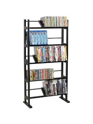 Atlantic Element 230 CDs Or 150 DVDs Or 185 Bluray In Espresso - 230 x CD, 150 x DVD, 185 x Blu-ray - 5 Compartment(s) - 5 Tier(s) - 41