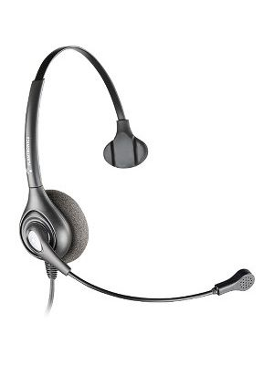 Plantronics SupraPlus SDS 2490-01 Headset - Mono - Wired - 150 Ohm - 100 Hz - 10 kHz - Over-the-head - Monaural - Semi-open - 2.50 ft Cable