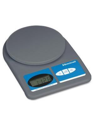 Brecknell Digital OfficeScale - 11 lb / 5 kg Maximum Weight Capacity - Gray