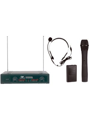 Pyle PDWM2700 Wireless Microphone System - 160 MHz to 270 MHz Operating Frequency - 150 ft Operating Range
