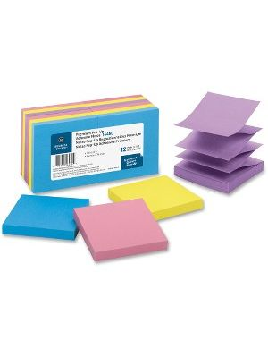 Business Source Reposition Pop-up Adhesive Notes - 3