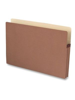 Business Source Redrope Legal Expanding File Pockets - Legal - 8 1/2