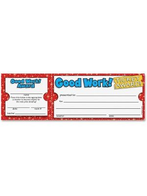 Scholastic Res. Good Work Ticket Awards - 100/Pack