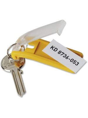 DURABLE Label Window Key Tags - 24 / Pack - Assorted