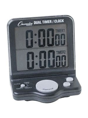 Champion Sport s Dual Jumbo Display Timer - 1 Day - Desktop, Wall Mountable - For Sports - Black