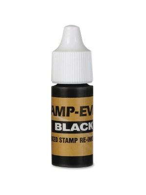 Stamp-Ever Universal Stamp Squeeze Ink Refill - 1 Each - Black Ink - 0.24 fl oz