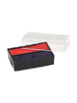 Trodat E4850L Replacement Ink Pad - 1 Each - Blue, Red Ink - Plastic