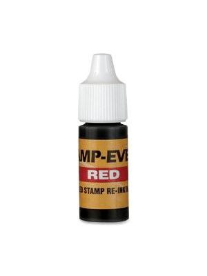 Stamp-Ever Pre-inked Stamp Ink Refill - 1 Each - Red Ink - 0.24 fl oz - Plastic