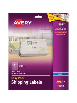 Avery Easy Peel Mailing Label - Permanent Adhesive - 3 21/64