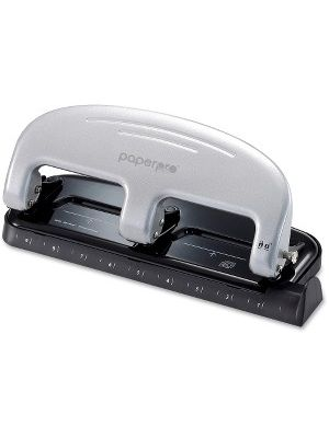 PaperPro inPRESS 20 Three-hole Punch - 3 Punch Head(s) - 20 Sheet Capacity - 9/32