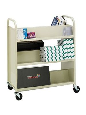 Bretford V336-GM Book Cart - 6 Shelf - 4 Casters - 4