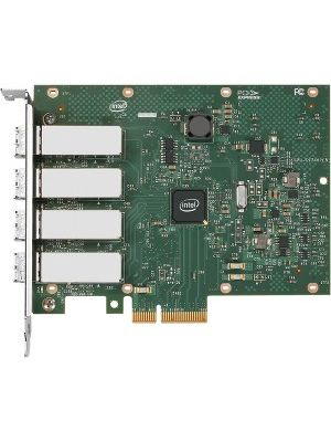 Intel Ethernet Server Adapter I340-F4 - PCI Express x4 - 4 Port - 1000Base-LX - Internal - Full-height, Low-profile - Retail
