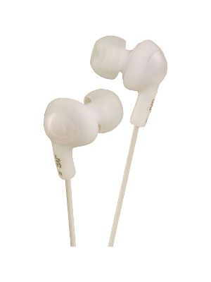 JVC Gumy Plus HA-FX5 Earphone - Stereo - White - Mini-phone - Wired - 16 Ohm - 10 Hz 20 kHz - Gold Plated - Earbud - Binaural - Open - 3.28 ft Cable