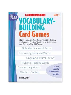 Scholastic Res. Grade 2 Vocabulary Building Card Games Book Education Printed Book by Liane B. Onish - English - Book - 80 Pages